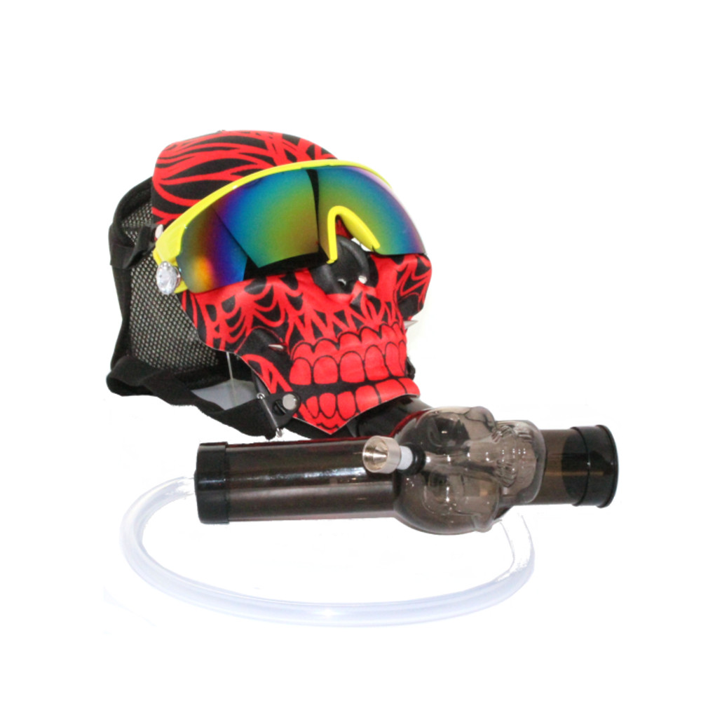 Black and Red Skull Gas Mask