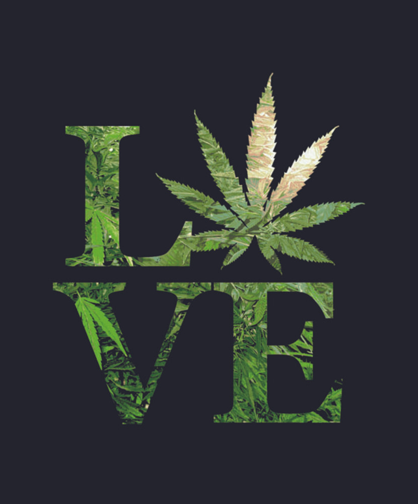 "Love Weed Plush Fleece Blanket 79"" x 94"""
