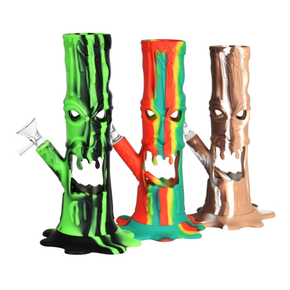"""Scary Tree Silicone/Glass LED water Pipe-9""""/14mm F"""