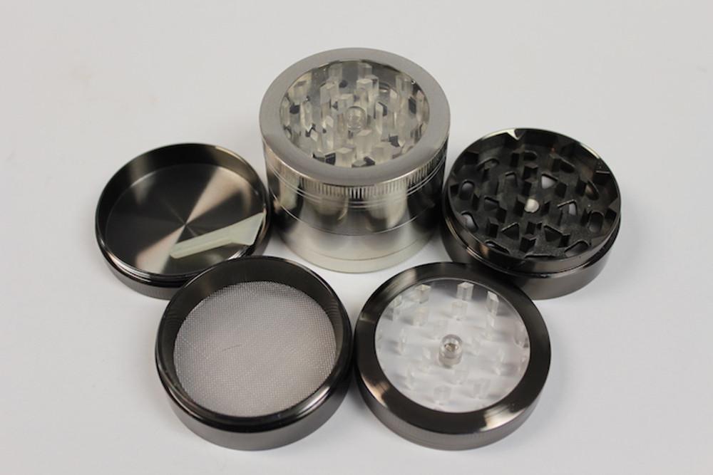 4 Parts Aluminum with Window Grinder