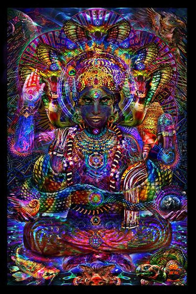 """Jumbie Art Trimurti Hologram 22"""" x 28"""""""
