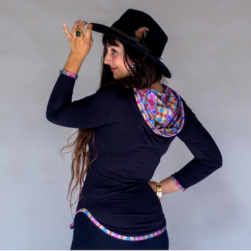 Jumbie Art Bastet Women's Hooded Shirt