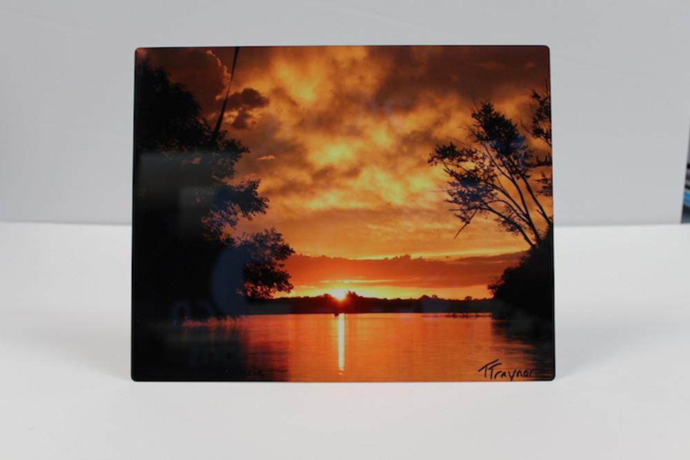 Sunrise on Lake Marie - Metal Photo