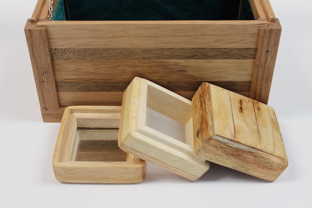 Sypoint Wood Design Pipe Box With Mini 3 Part Kief Box