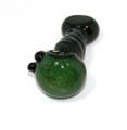 """4"""" Twisted Green Tube Glass Spoon Pipe"""