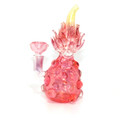"""Flaming Strawberry Bubbler - 7.25"""" / 14mm Female"""