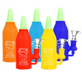 """Asian Hot Sauce Silicone Water Pipe - 6.5"""" 14mm F"""