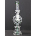 """Clear/Green Donut Recycler 10"""""""