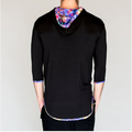 Jumbie Art Abstract Men's Hooded Shirt