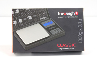 Truweigh Classic Digital Mini Scale - 1000g x 0.1g / Black