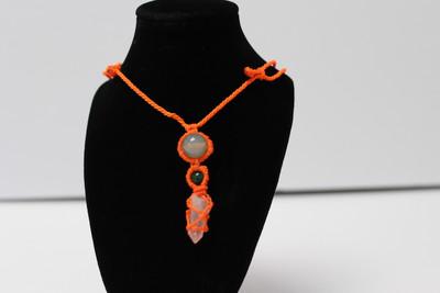Handmade Inca Necklace with Quartz from Peru