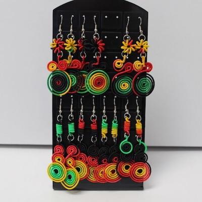 Handmade Inca Rasta Earrings from Peru