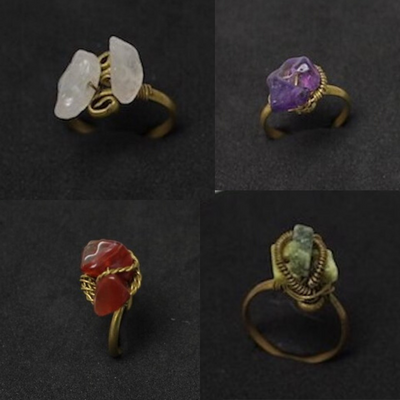 Handmade Incs Rings with Stone from Peru