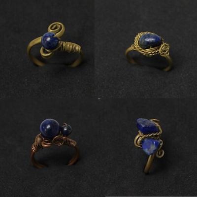 Handmade Inca Lapis Lazuli Stone Rings from Peru