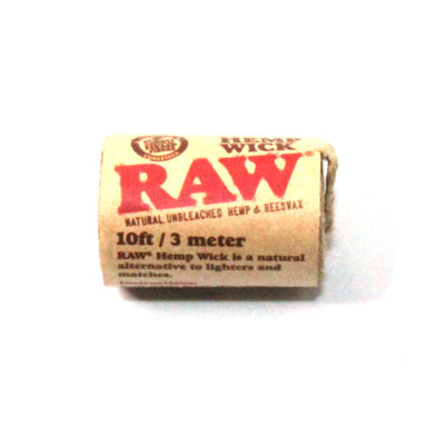 Raw Hempwick - 10ft / Natural & Unbleached
