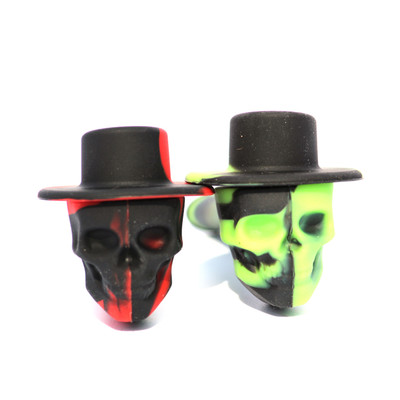 """Skull Cowboy Silicone Hand Pipe - 4"""""""
