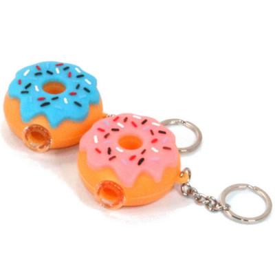 "Silicone Donut One Hitter Keychain - 2"""
