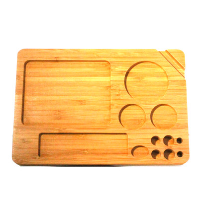 Wood Tray with Compartments