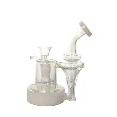 Mini White/Clear Water Pipe