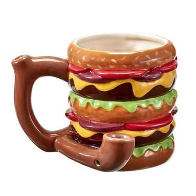 Double Cheeseburger Ceramic Pipe Mug - 18 oz.