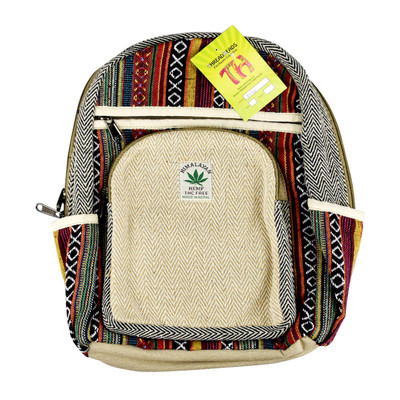 "ThreadHeads Himalayan Hemp Woven Mini Backpack - 11"" x 15"""
