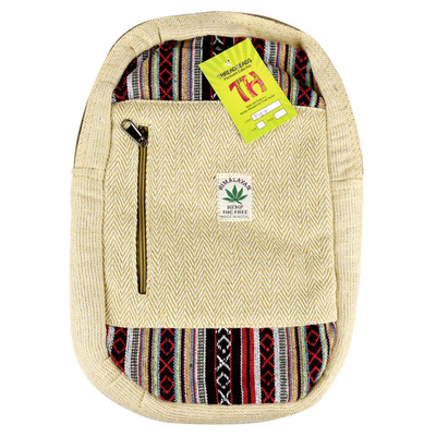 "ThreadHeads Himalayan Hemp Messenger Backpack - 11"" x 15"""