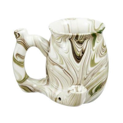 Roast & Toast Premium Marbled Ceramic Pipe Mug
