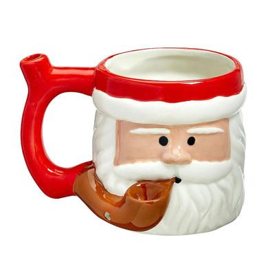 Roast & Toast Smoking Santa Ceramic Pipe Mug 17oz