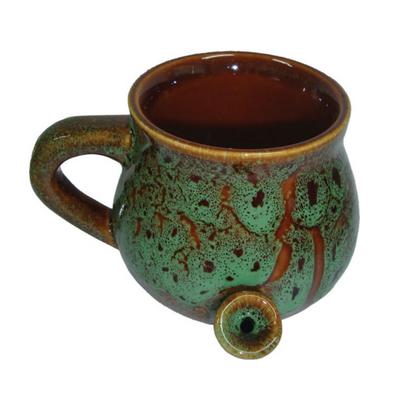 Ceramic Speckled Glaze Mug Pipe - 8 oz