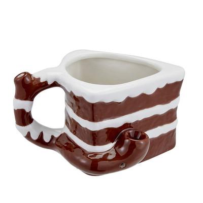 It's 4:20 Somewhere Chocolate Cake Ceramic Pipe Mug 16 oz