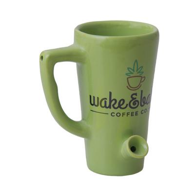 Ceramic Water Pipe Mug - Tapered - 8 oz