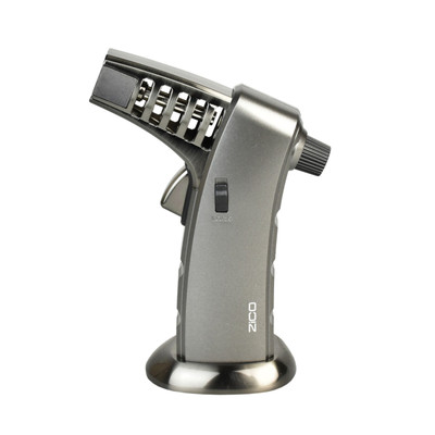 """Zico MT 41 Vented Barrel Table Torch Lighter 6.5""""/Silver"""