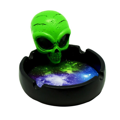 """Angry Space Alien Ashtray - 4"""""""