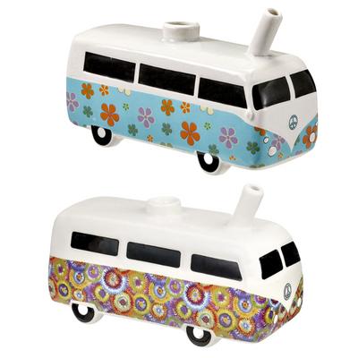 "Vintage Hippie Bus Ceramic Pipe - 7"""