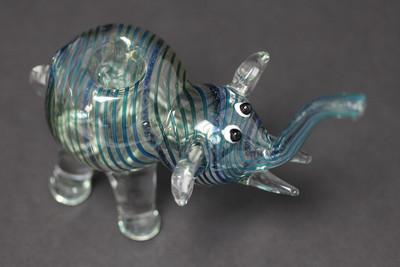 "Swirly Elephant Pipe 4.5"""