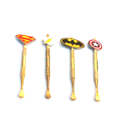Gold Dab Tool With Superhero Topper 4.7""