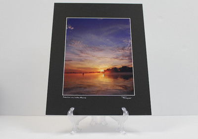 Pre-matted (Black) - Sunrise on Lake Marie 4