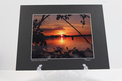 Pre-matted (Black) - Sunrise on Lake Marie 2
