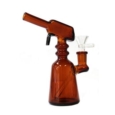 """Orange Spray Bottle Bong 6"""" 14.5mm"""