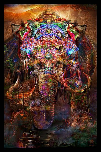 "Jumbie Art Ganesha Hologram 22"" x 28"""