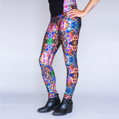 Jumbie Art Bastet Leggings (Reversible)