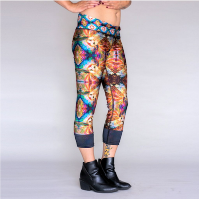 Jumbie Art Owl Leggings (Reversible)