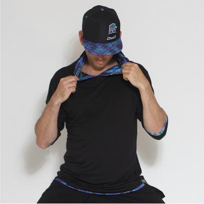 Jumbie Art Lizard Men's Hooded Shirt
