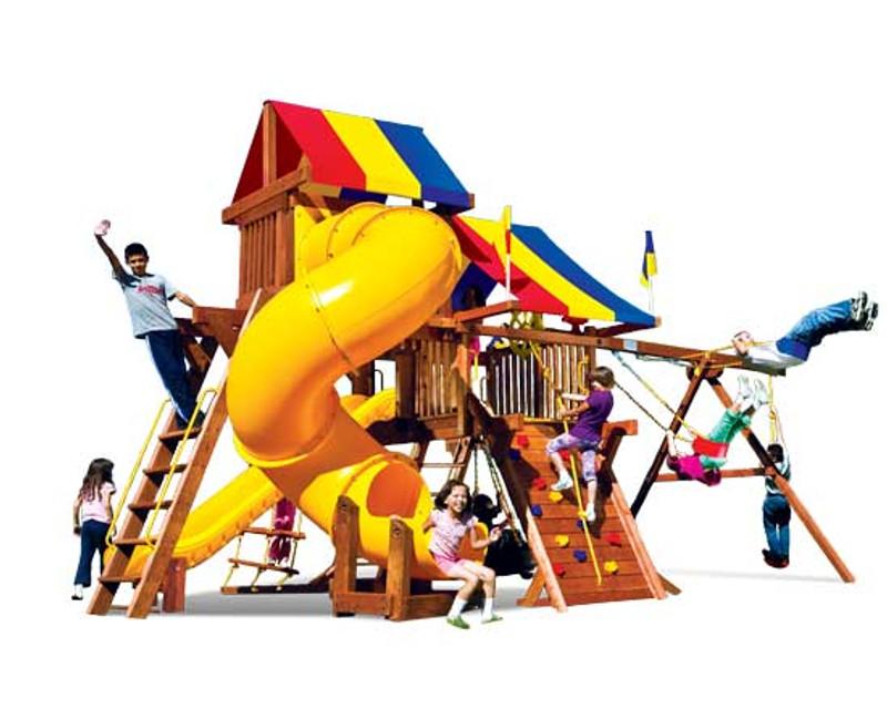 19J-Rainbow Castle Pkg V w/360 Spiral Slide