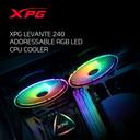 XPG LEVANTE RGB Liquid CPU Cooler: 240mm Radiator 2 x 120mm Fans