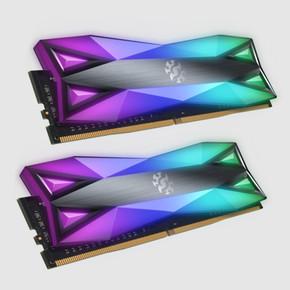 XPG SPECTRIX D60 RGB Desktop Memory: 16GB (2x8GB) DDR4 3200MHz CL16 GREY