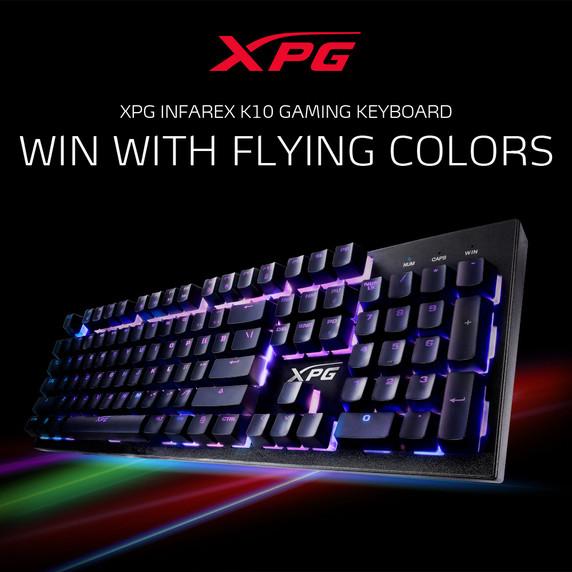 XPG INFAREX K10 RGB Gaming Wired USB Keyboard w/ Mem-chanical Switches