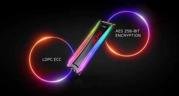 XPG SPECTRIX RGB Gaming SSD S40G: 1TB Internal PCIe Gen3x4 M.2 2280 (NVMe)