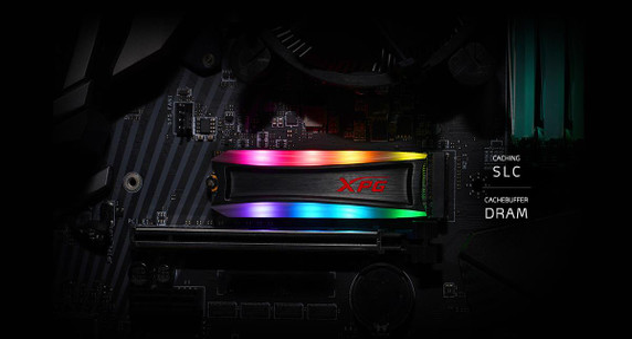 XPG SPECTRIX RGB Gaming SSD S40G Series: 4TB Internal PCIe Gen3x4 M.2 2280 NVME