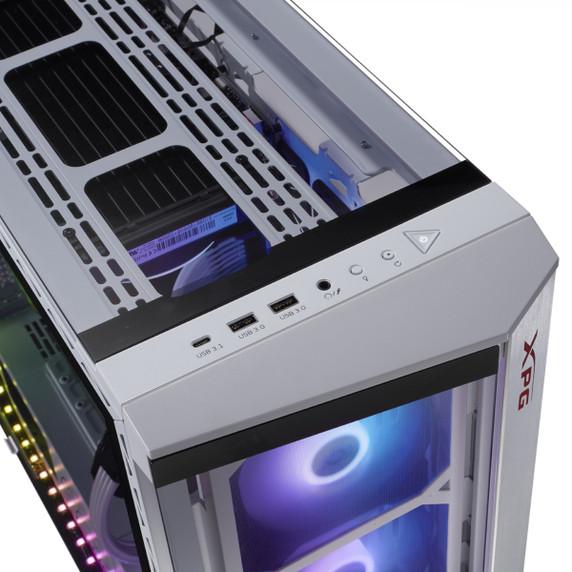 XPG BATTLECRUISER ATX RGB Mid-Tower Case - White